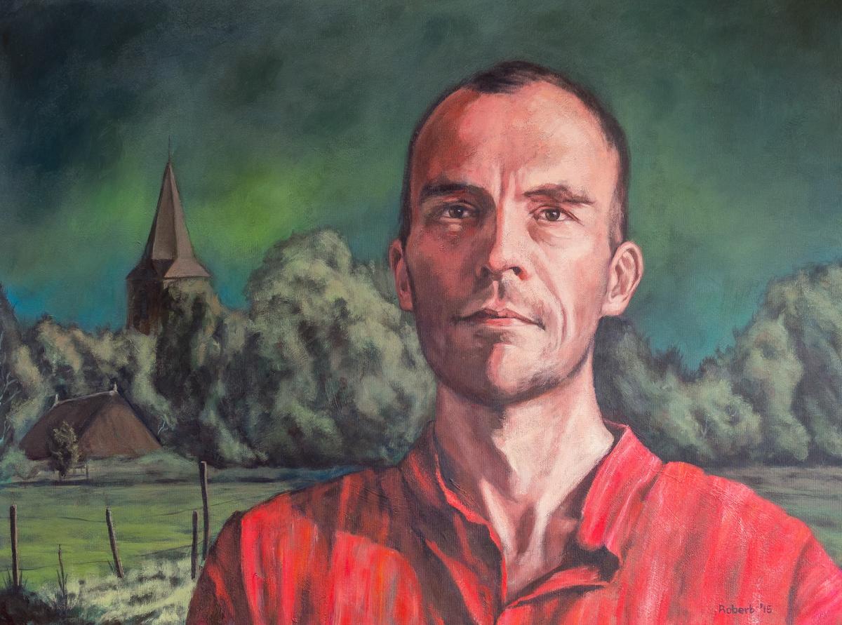 Mischa van Huijstee, 2015 - acryl op katoen, 80 x 60