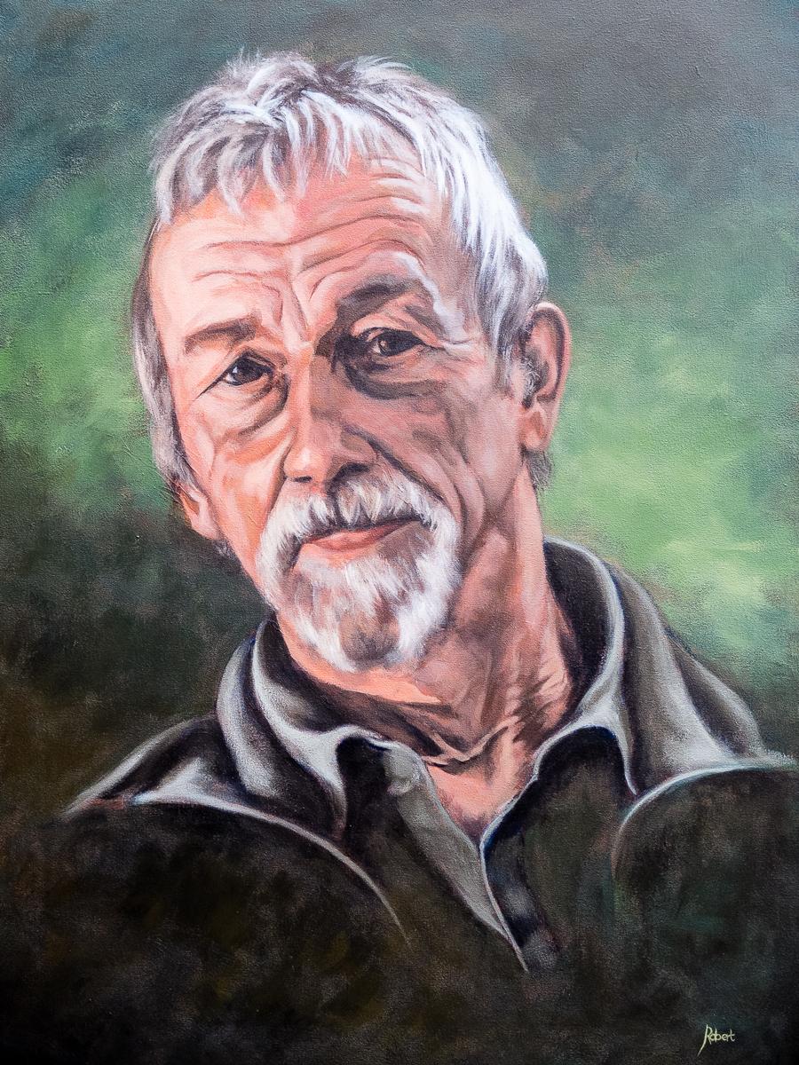 Gezienus Omvlee, 2015 - acryl op katoen, 80 x 60