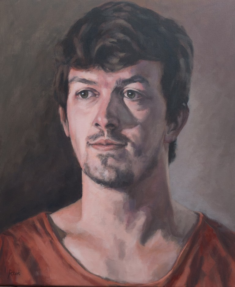 Wouter, 2015 - acryl op katoen, 60 x 50