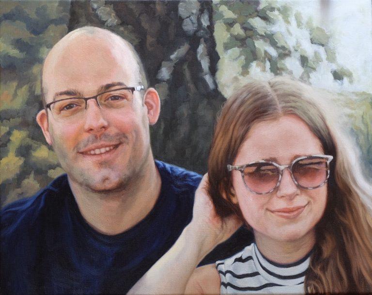 Daan en Rianne - december 2018 - Olie op katoen, 50 x 40