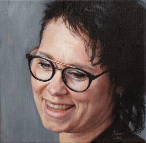 Bianca - Januari 2019 - Acryl op katoen, 20 x 20 (verkocht)